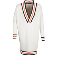 material Women jumpers Maison Scotch WHITE LONG SLEEVES White / Cream