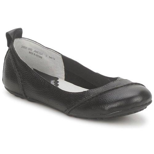 Shoes Women Ballerinas Hush puppies JANESSA Black