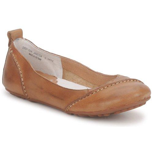 Shoes Women Ballerinas Hush puppies JANESSA Brown