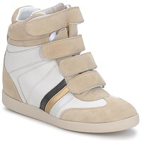 Shoes Women Low top trainers Serafini MANATHAN SCRATCH White beige blue