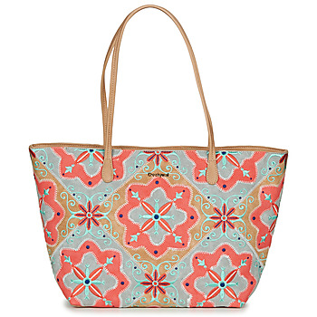 Bags Women Shoulder bags Desigual MARY JACKSON CAPRI ZIPPER Brown / Coral