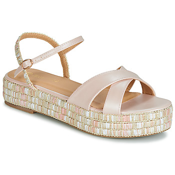 Shoes Women Sandals Moony Mood JOSILE Pink / Mother-of-pearl