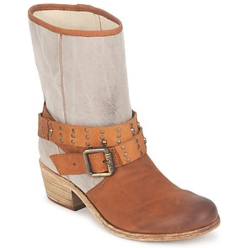 Shoes Women Boots Ikks INES Brown / TAUPE