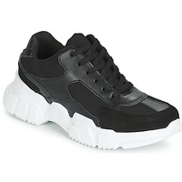 Shoes Women Low top trainers Yurban JILIBELLE Black / White