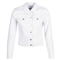 material Women Denim jackets Vero Moda VMHOT SOYA White