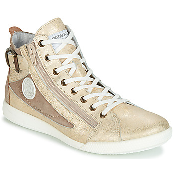 Shoes Women High top trainers Pataugas PALME Gold