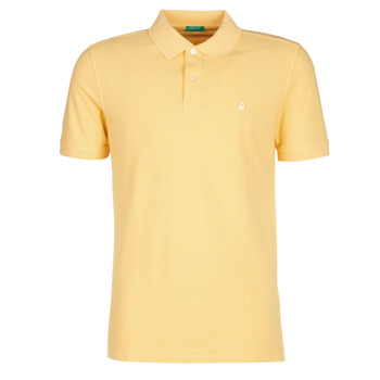 material Men short-sleeved polo shirts Benetton MADALO Yellow