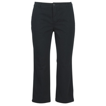 material Women cropped trousers Benetton ORELY Black