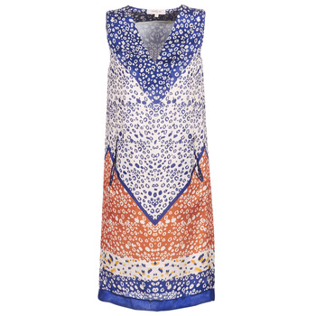 material Women Short Dresses Derhy FORTERESSE White / Blue / Orange