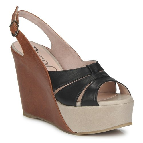 Shoes Women Sandals Paco Gil RITMO SELV Camel / Black