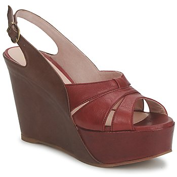 Shoes Women Sandals Paco Gil RITMO SELV Camel / Bordeaux