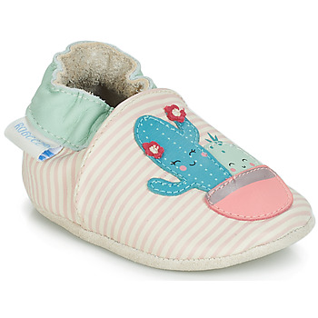 Shoes Girl Baby slippers Robeez CACTUS Ecru / Pink