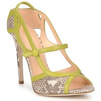 Shoes Women Sandals Roberto Cavalli RPS678 Python / Green