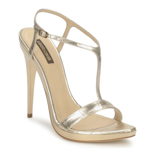 Shoes Women Sandals Roberto Cavalli RDS736 Gold