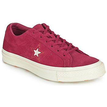 Shoes Women Low top trainers Converse ONE STAR LOVE IN THE DETAILS SUEDE OX Fuschia