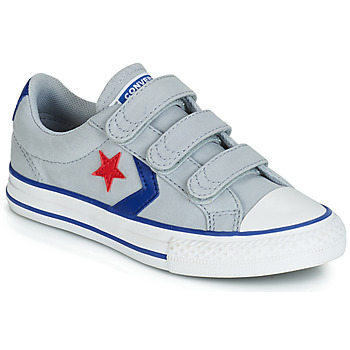 Shoes Boy Low top trainers Converse STAR PLAYER 3V CANVAS OX Grey
