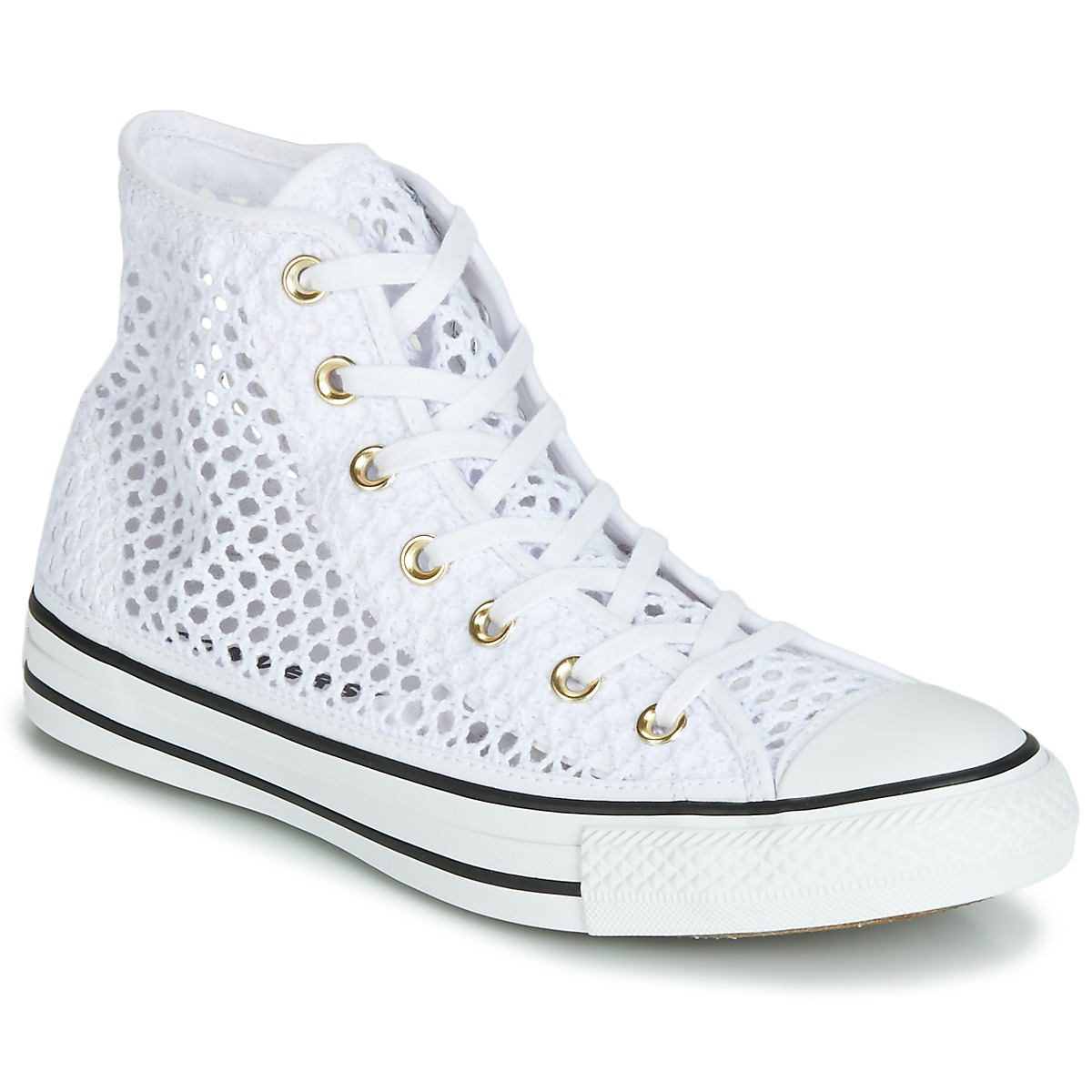 e2dd7882ca4 Converse CHUCK TAYLOR ALL STAR HANDMADE CROCHET HI White - Free delivery |  Spartoo NET ! - Shoes High top trainers Women USD/$89.00