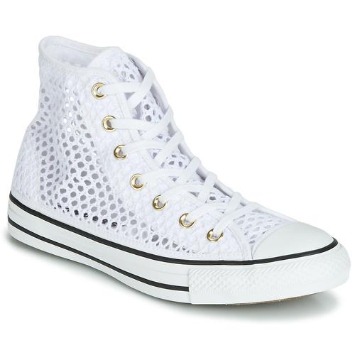 Shoes Women High top trainers Converse CHUCK TAYLOR ALL STAR HANDMADE CROCHET HI White