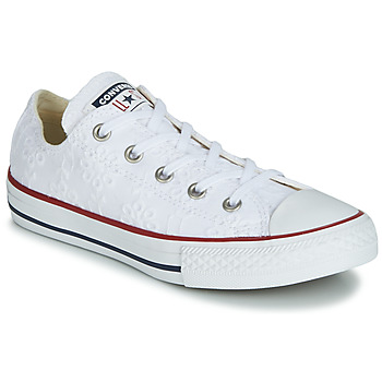 Shoes Girl Low top trainers Converse CHUCK TAYLOR ALL STAR BROADERIE ANGLIAS OX White