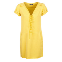 material Women Short Dresses One Step PATRICIA Yellow