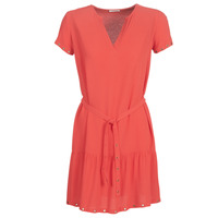 material Women Short Dresses Ikks BN30115-35 Coral / Pink