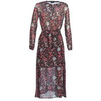 material Women Long Dresses Ikks BN30065-02 Black / Red / Grey