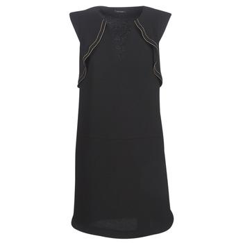material Women Short Dresses Ikks BN31075-02 Black