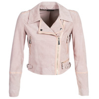 material Women Leather jackets / Imitation le Guess JUNKO Pink