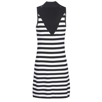 material Women Short Dresses Guess KIMBERLY Black / White