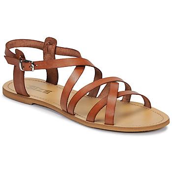 Shoes Women Sandals So Size IDITRON Brown