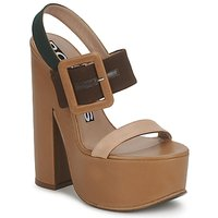 Shoes Women Sandals Rochas RO18231 Brown / Beige