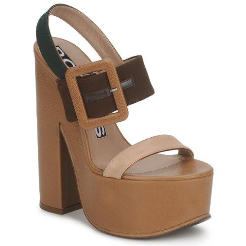 Shoes Women Sandals Rochas RO18231 Brown / Beige