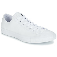Shoes Low top trainers Converse ALL STAR MONOCHROME CUIR OX White