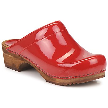 Shoes Women Clogs Sanita CLASSIC PATENT Red