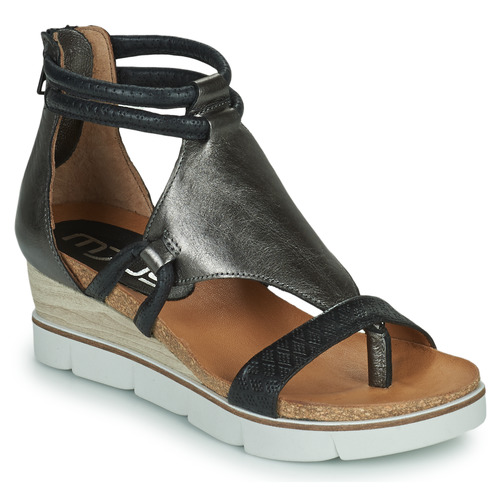 Shoes Women Sandals Mjus TAPASITA Black / Silver