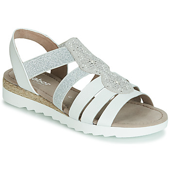 Shoes Women Sandals Gabor MOLDINO White / Silver