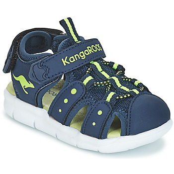 Shoes Boy Sandals Kangaroos K-MINI Marine / Yellow