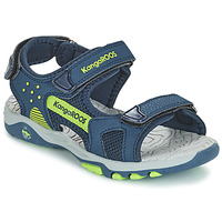 Shoes Children Sandals Kangaroos K-CELTIC Marine / Yellow