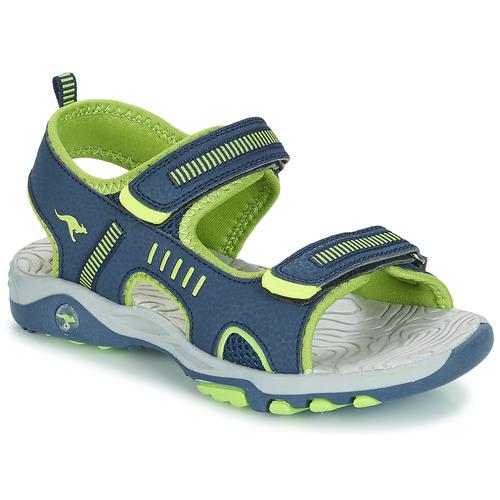 Shoes Boy Sandals Kangaroos K-LOGAN Marine / Green