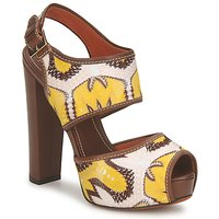 Shoes Women Sandals Missoni TM81 Brown / Beige / Yellow