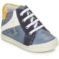 Shoes Boy Mid boots André PEDALO Blue