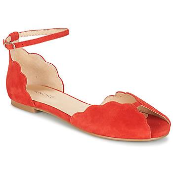 Shoes Women Sandals André SERINGAT Red