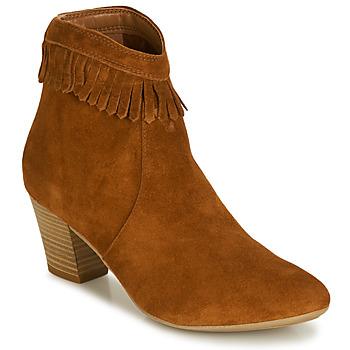 Shoes Women Ankle boots André RILAN Cognac