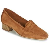 Shoes Women Loafers André SENLIS Camel
