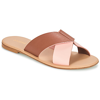 Shoes Women Mules André CRYTELLE Brown