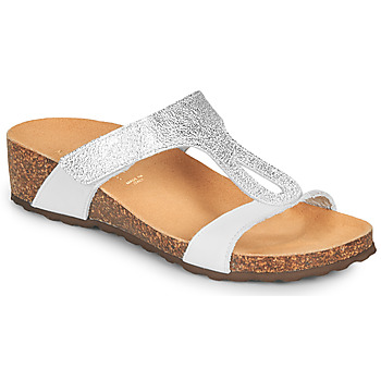 Shoes Women Mules André REVERA Silver / White