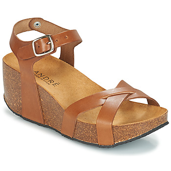 Shoes Women Sandals André HERA Brown