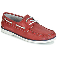 Shoes Men Boat shoes André PORT CROS Red