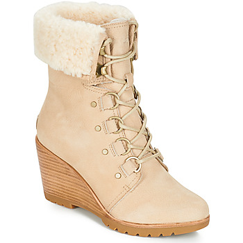 Shoes Women Snow boots Sorel AFTER HOURS™ LACE SHEARLING Beige