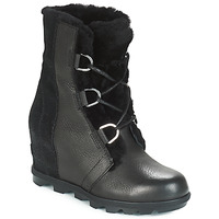 Shoes Women Snow boots Sorel JOAN OF ARCTIC™ WEDGE II LUX Black